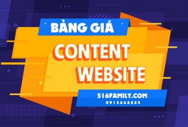 Bảng giá viết content website tại 516family.com