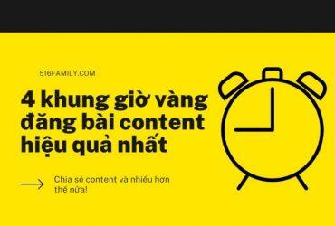 4 khung giờ vàng đăng bài content hiệu quả nhất
