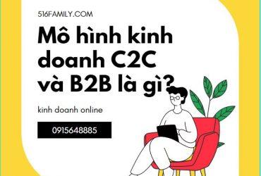 Mô hình kinh doanh C2C và B2B là gì?