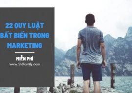 22 Quy luật bất biến trong marketing, tài liệu miễn phí ecommerce