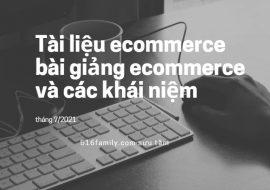 Tài liệu ecommerce, bài giảng ecommerce và các khái niệm